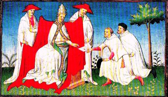 Risultati immagini per san francesco d'assisi si inchina al papa