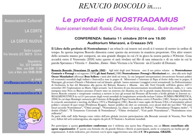Conferenza BOSCOLO ottobre 2014