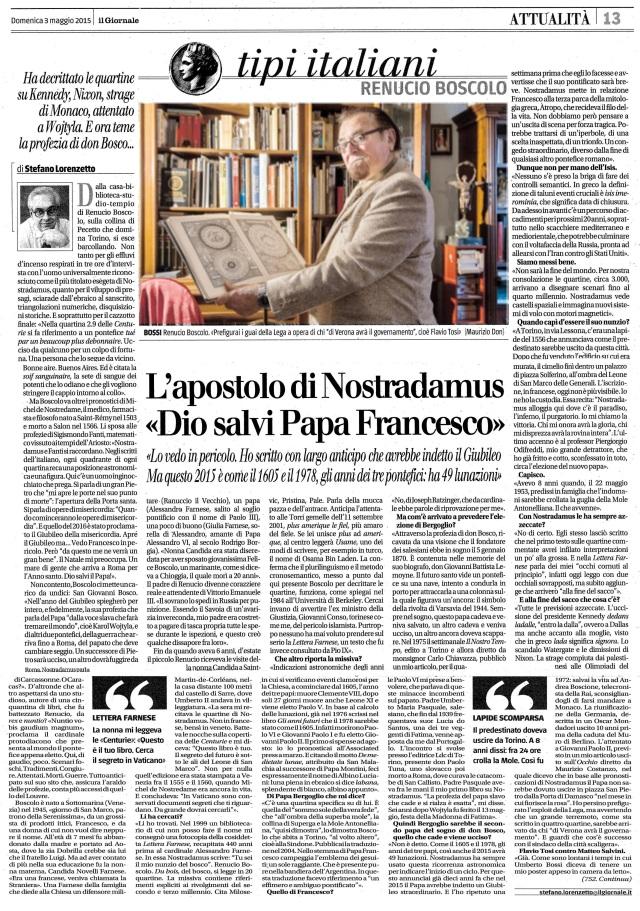 Renucio Boscolo (IL GIORNALE 03-Maggio 2015) -